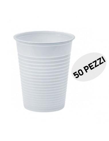 Bicchieri da bevande bianchi confezione da 50 pz 165ml